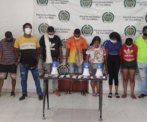 En Sitionuevo fueron sorprendidos por uniformados de la Policía Nacional.