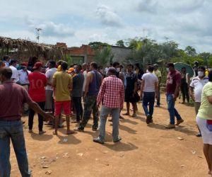Protestas por el servicio de luz en Guamal.