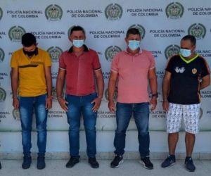 Presuntos secuestradores del hombre en Cesar.