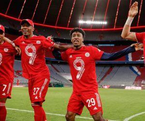 Celebración de los jugadores del Bayern.