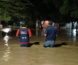 Inundaciones en Guachaca.