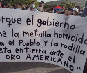 Manifestantes volvieron a salir a las calles con pancartas.