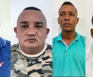 Presuntos integrantes de 'La Saga'.