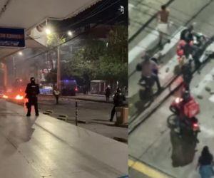 Violentas protestas en Barranquilla.