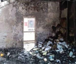 Oficinas quemadas del Palacio Municipal