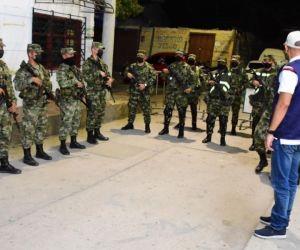Ejército llegó a Ciénaga.