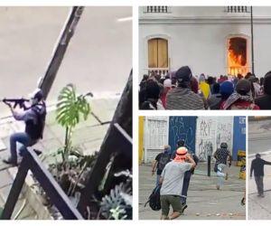 Además de los actos registrados por el Gobierno, también se ha visto a policías de civil disparando (izquierda).