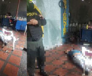 La víctima del atentado