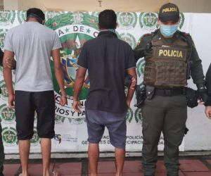 Hombres detenidos en Arauca.