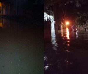 Dos corregimientos afectados por las inundaciones.