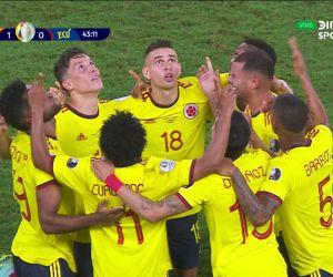 La Selección Colombia logró el único gol de la victoria.