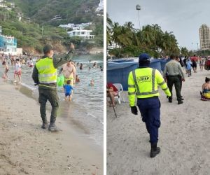Ocupación playas en Santa Marta.