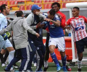 La gresca en la que estuvo involucrado el samario se registró al final del partido.