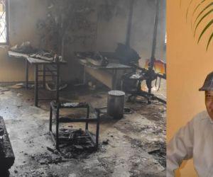 José Miguel Schiller Vizcaíno resultó quemado tras el incendio.