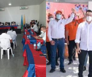 Los diputados afirmaron que los funcionarios acompañaron a Caicedo hace cinco días en Fundación.
