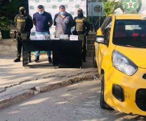 Hombres capturados en Cartagena.