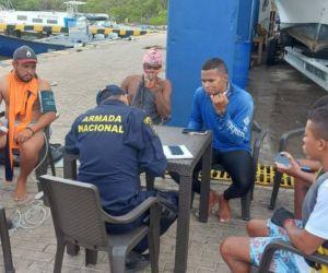 Pescadores rescatados.