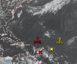 Paso de la onda tropical.