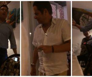 Carlos Caicedo cantándole al agasajado, Germán Vargas Lleras, en 2015.