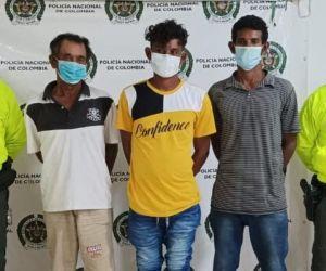 Los tres presuntos abusadores.