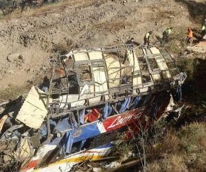 Bus accidentado en Perú.