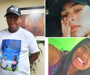 Jair Romero y sus hijos fallecidos.