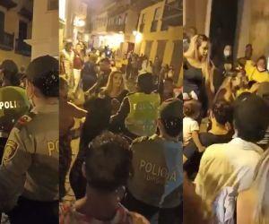 Imágenes de la bochornosa riña en Cartagena.