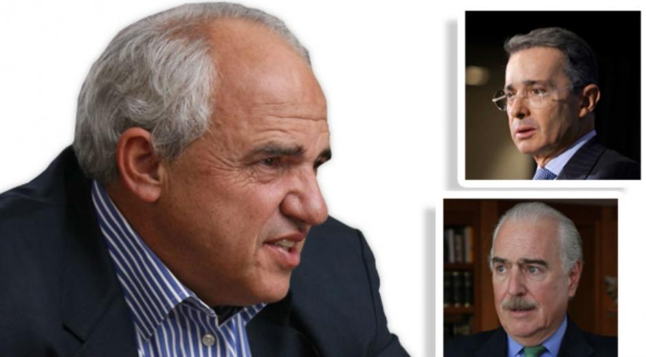 Samper, Uribe y Pastrana, expresidentes de Colombia.