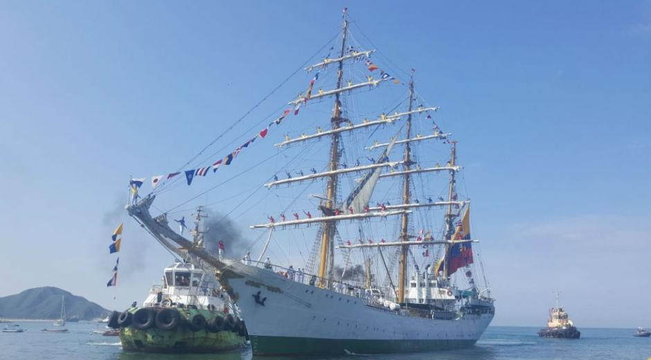 Llegada del Buque Gloria al Puerto de Santa Marta.