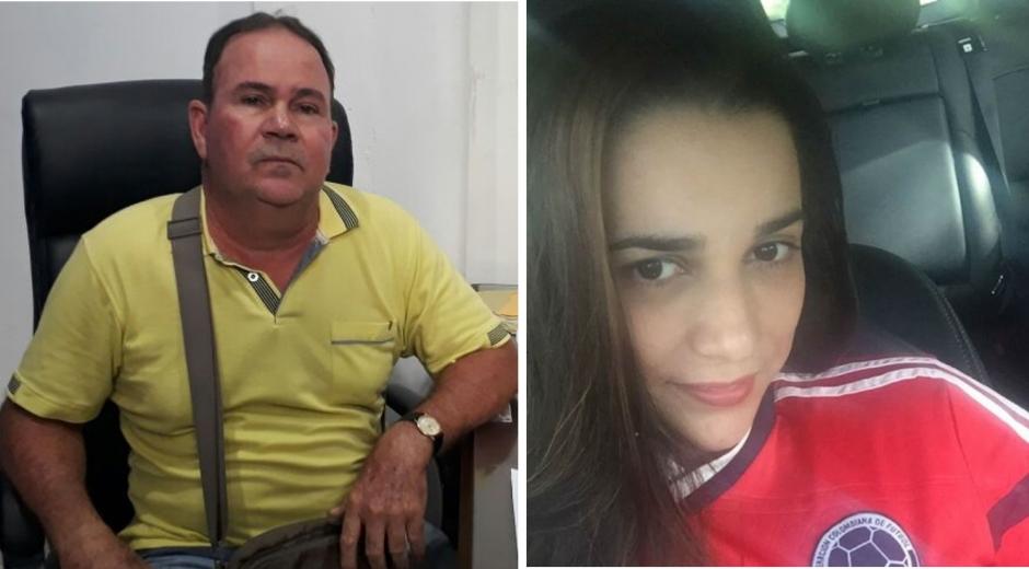 EL CONCEJAL, FRANCISCO SALAZAR AMARIS EL AGRESOR y LEONOR CÁRDENAS SÁNCHEZ, LA VÍCTIMA.