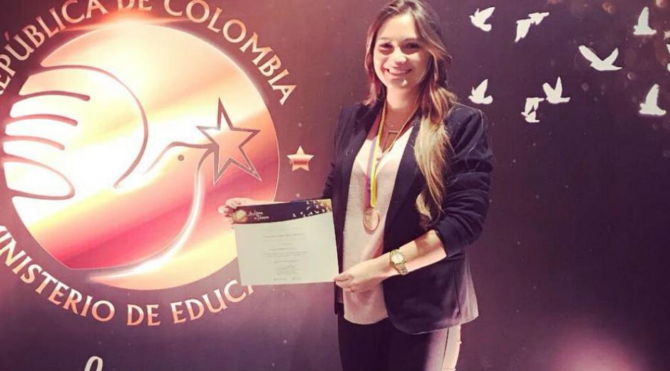 Daniela de Jesús Núñez Cuao, egresada académicamente del programa de Derecho de la Universidad Sergio Arboleda.