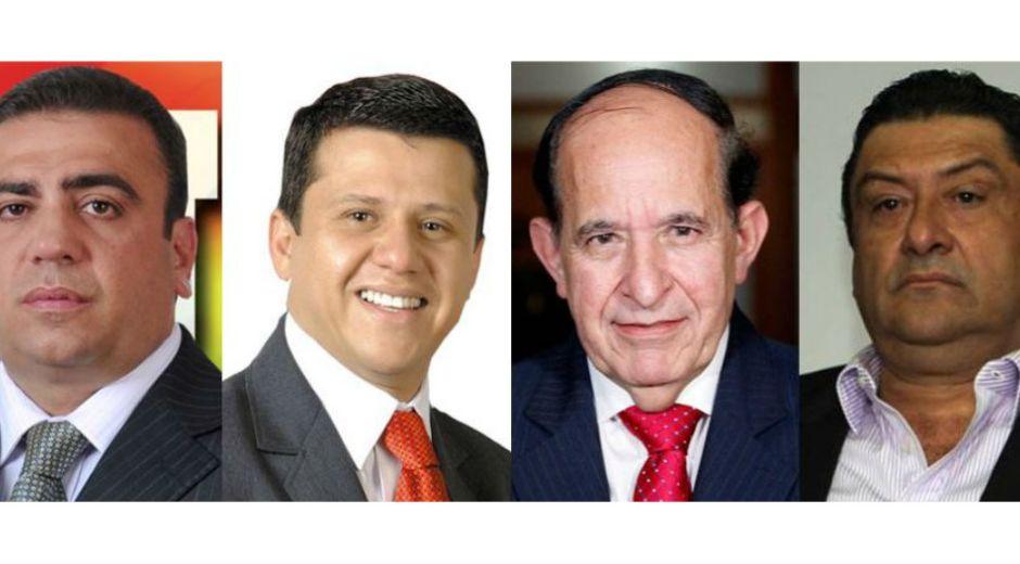 Musa Besaile, Bernardo Elías, Álvaro Ashton, Francisco Gómez.
