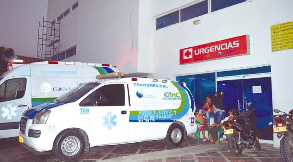 La menor permaneció hospitalizada en la clínica Cehoca, donde falleció.