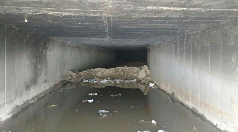 El box culvert está sobre la quebrada Tamacá y se sitúa en el intercambiador del barrio La Lucha.