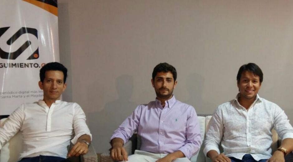 Elías Galeano (izq), Mauricio Pérez (centro) y Rubén Jiménez (der) son 3 jóvenes empresarios que continuarán con el desarrollo de Santa Marta.