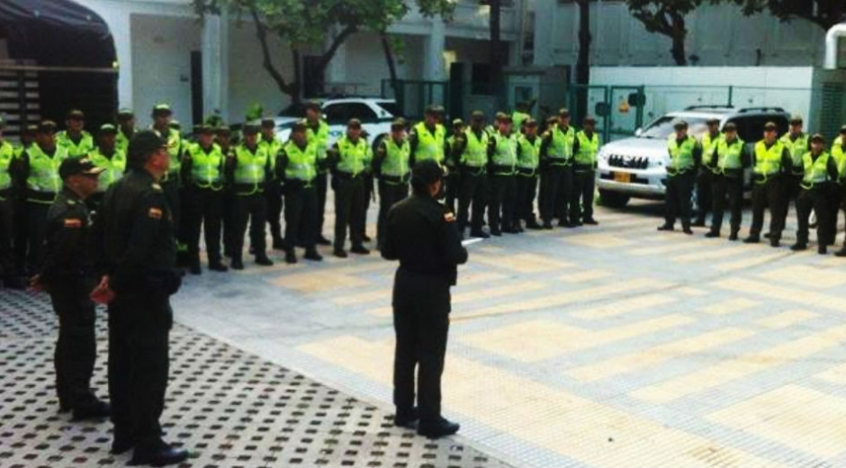 Policía Metropolitana de Santa Marta.