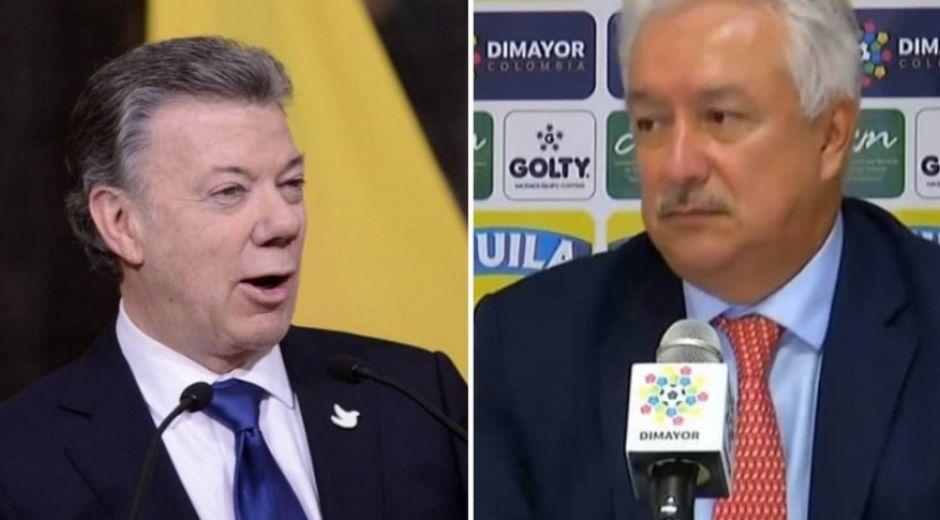 Juan Manuel Santos y Jorge Perdomo.