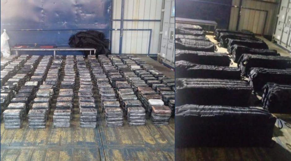 La droga estaba escondida en 15 maletas.