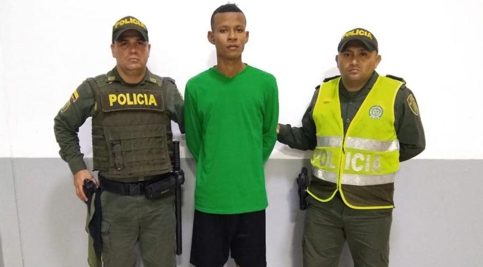 Landy Javier Fuente Canchila, capturado.