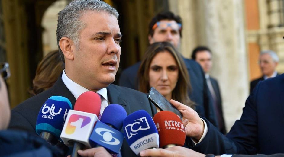 El presidente Iván Duque entregó las declaraciones desde Bruselas.