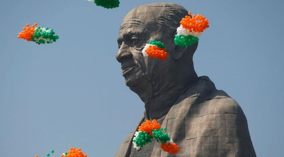 Inauguración de la estatua de Sardar Patel