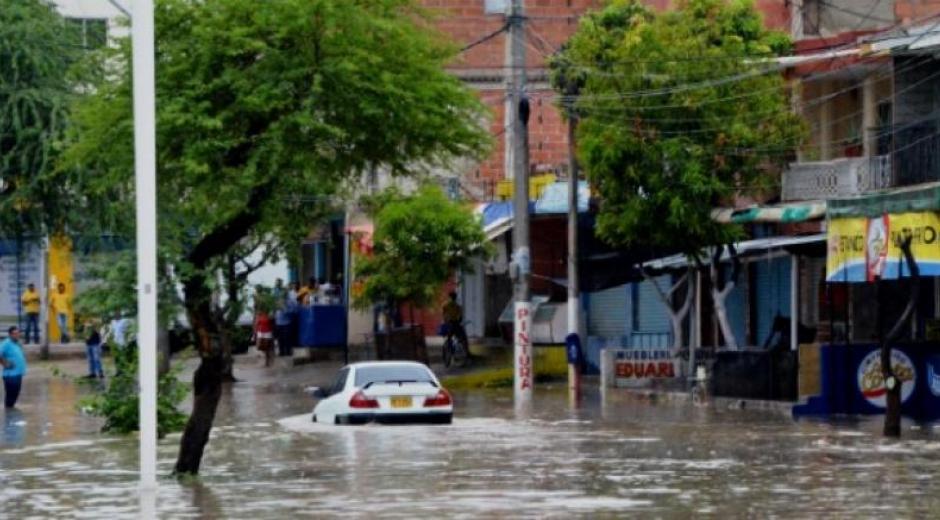Así se queda la zona cada vez que llueve en Santa Marta.