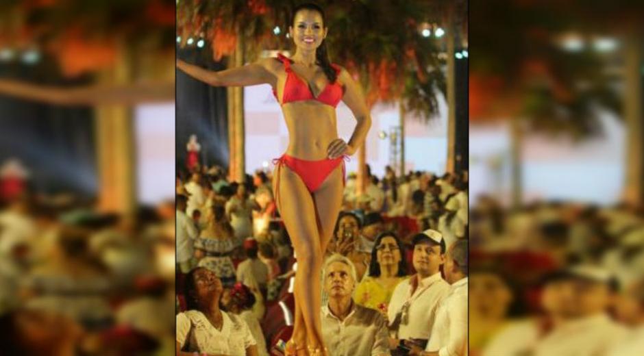 La representante del Magdalena al Concurso Nacional de la Belleza, María Camila Cárdenas.