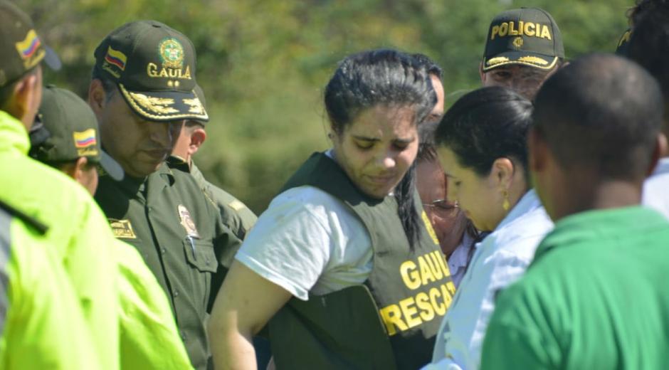 Melissa Martínez en su llegada a Santa Marta.