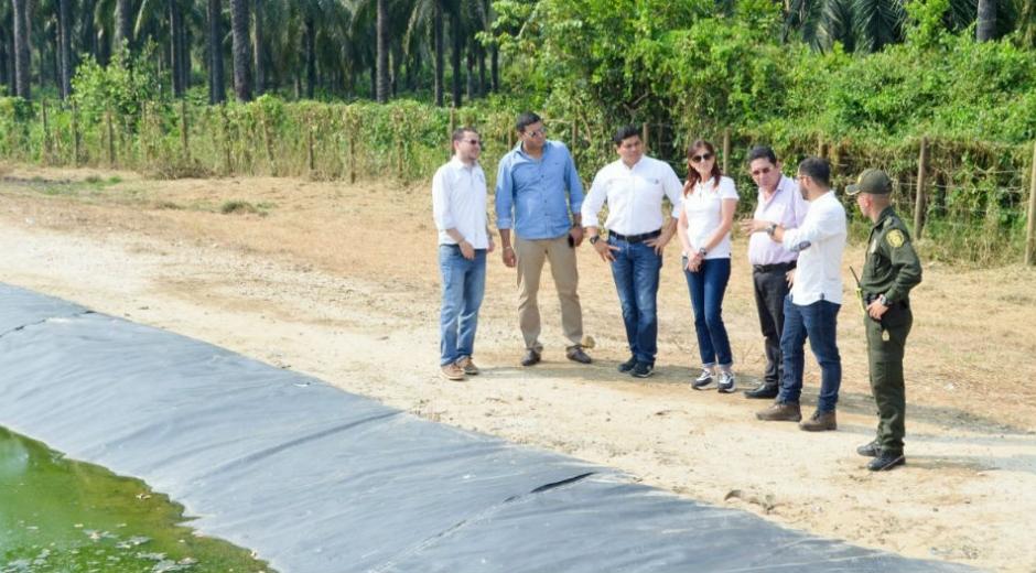 La Gobernadora visitó el municipio de Aracataca y se reunió con el Alcalde.