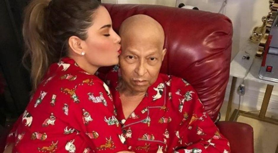 La exVirreina Universal Ariadna Gutiérrez y su padre Wilson Gutiérrez.