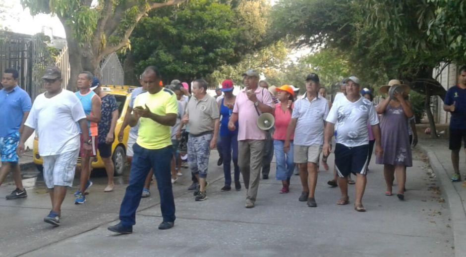 Habitantes de Mamatoco se dirigieron hasta la planta de tratamiento que hay en ese barrio.