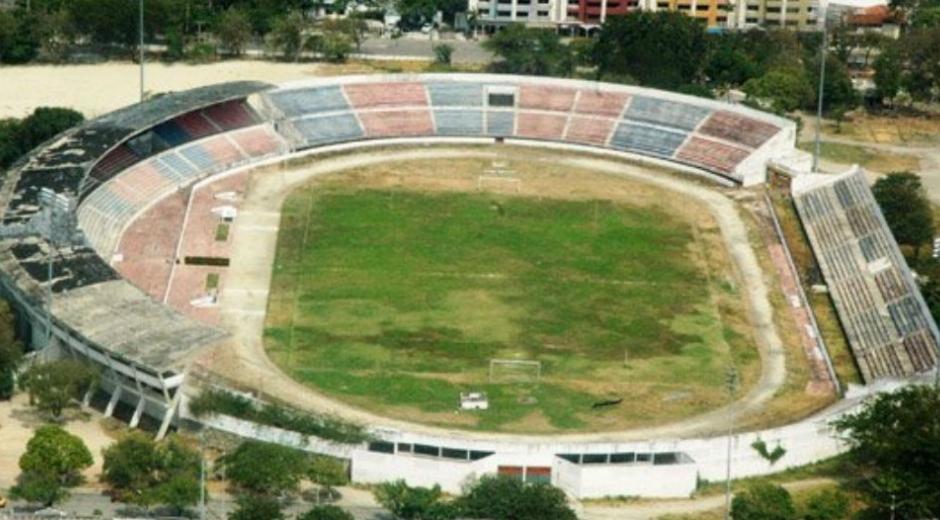 Panorámica del estadio Eduardo Santos.