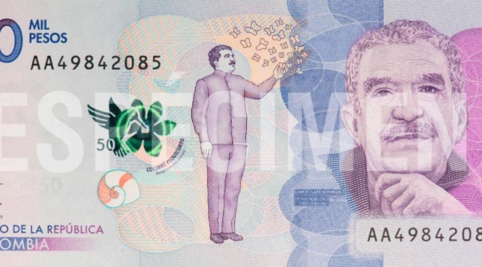 Billete de 50 mil pesos.