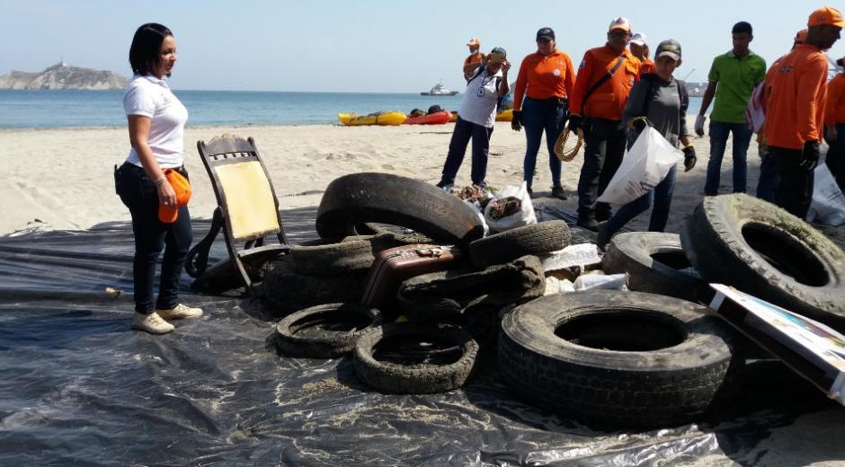 Recolectaron 38.6 toneladas de residuos de esta playa.